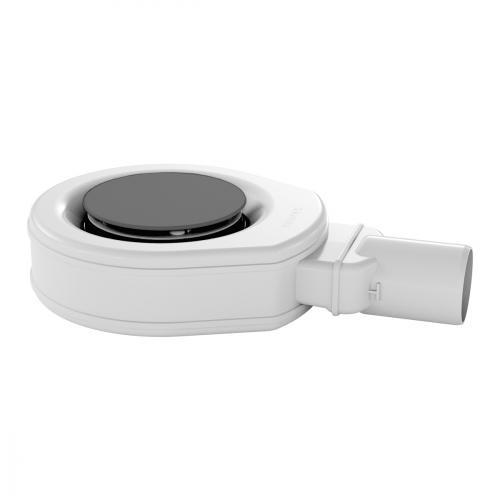 Kaldewei Professional KA 90 (Mod. 4049) Ablaufgarnitur extraflach mit Secure Plus mit vollemailliertem Ablaufdeckel, cataniagrau matt