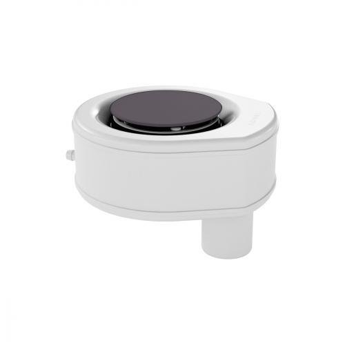 Kaldewei Professional KA 90 (Mod. 4054) Ablaufgarnitur senkrecht mit Secure Plus für ESR II mit vollemailliertem Ablaufdeckel, city anthrazit matt