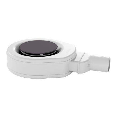 Kaldewei Professional KA 90 (Mod. 4449) Ablaufgarnitur ultraflach mit Secure Plus mit vollemailliertem Ablaufdeckel, city anthrazit matt