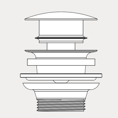 Kaldewei Push-To-Open Ventil mit verchromtem Deckel