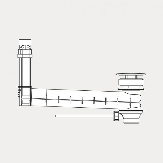 Kaldewei Clou Ab- und Überlaufgarnitur für Excenterbetätigung, rund