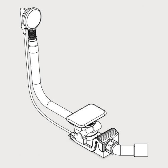 Kaldewei Asymmetric Duo KA 4061 Spezial Ab- und Überlaufgarnitur weiß mit Füllfunktion