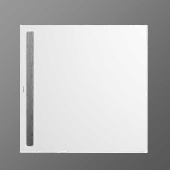 Kaldewei Nexsys Bodenebene Duschfläche Komplett-Set weiß, mit normalem Ablauf