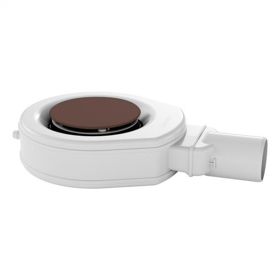 Kaldewei Professional KA 90 (Mod. 4050) Ablaufgarnitur extraflach mit Secure Plus für ESR II mit vollemailliertem Ablaufdeckel, anconabraun matt
