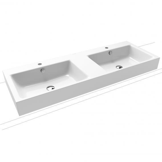 Kaldewei Puro Aufsatz-Doppelwaschtisch mit 2 Hahnlöchern