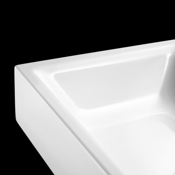 Kaldewei Puro Aufsatz-Handwaschbecken weiß, mit 1 Hahnloch