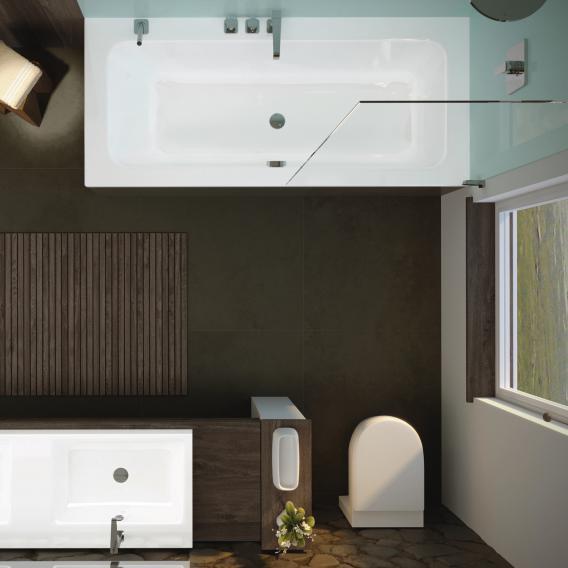 Kaldewei Puro Set Wide Rechteck-Badewanne Rechts weiß