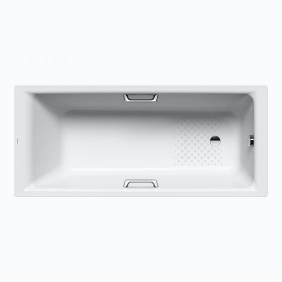 Kaldewei Puro & Puro Star Rechteck-Badewanne Antislip, weiß mit Perl-Effekt, für Griffmontage