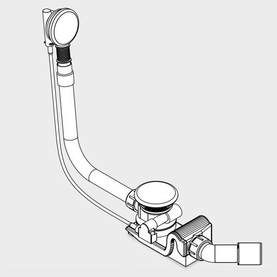 Kaldewei Spezial Ab- und Überlaufgarnitur für Centro Duo & Ellipso Duo weiß