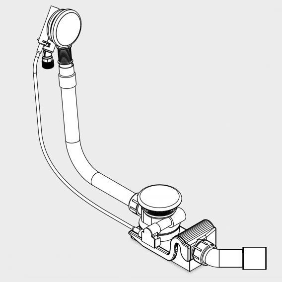 Kaldewei Spezial Ab- und Überlaufgarnitur mit Füllfunktion für Centro Duo & Ellipso Duo weiß
