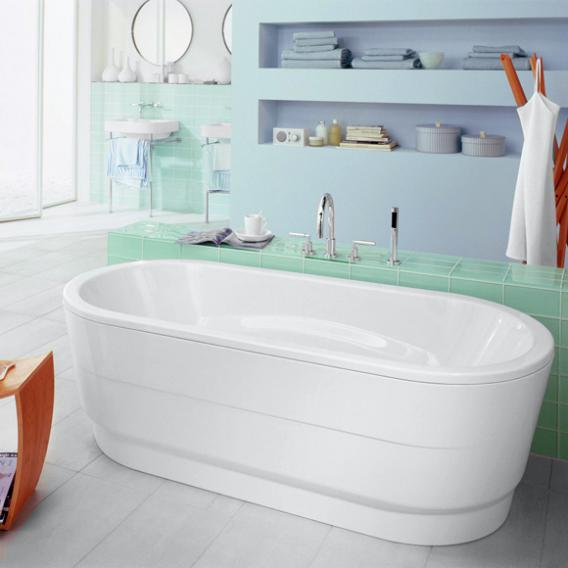 Kaldewei Vaio Duo Oval Freistehende Ovale Badewanne m. Verkleidung weiß