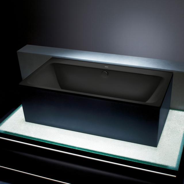 Kaldewei Asymmetric Duo Rechteck-Badewanne, Einbau schwarz matt