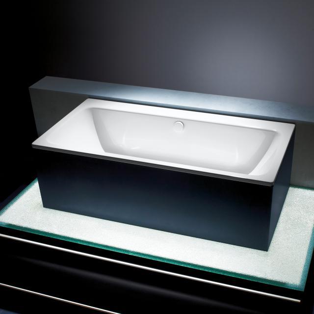 Kaldewei Asymmetric Duo Rechteck-Badewanne, Einbau weiß mit Perl-Effekt