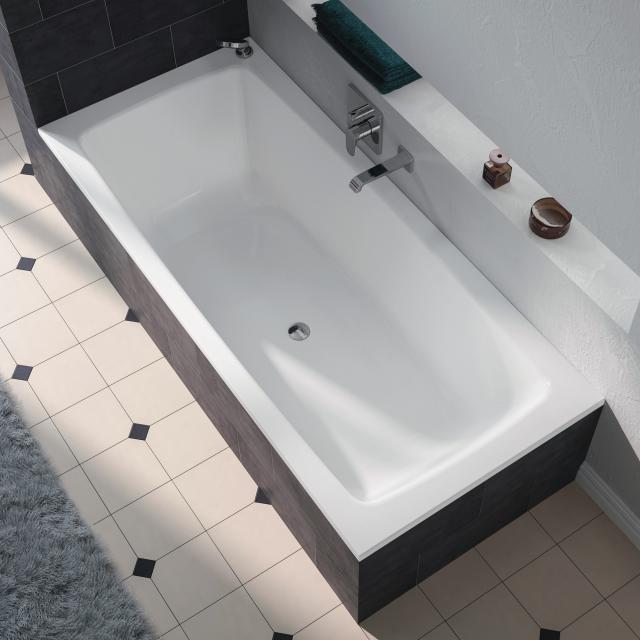 Kaldewei Cayono Duo Rechteck-Badewanne, Einbau weiß mit Perl-Effekt
