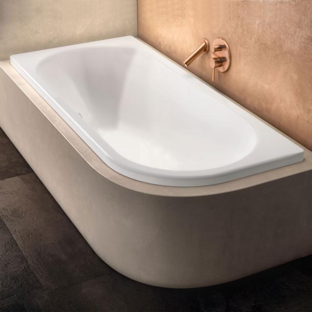 Kaldewei Centro Duo 1 Eck-Badewanne, Einbau weiß matt