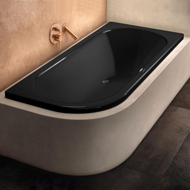 Kaldewei Centro Duo 1 Eck-Badewanne, Einbau schwarz