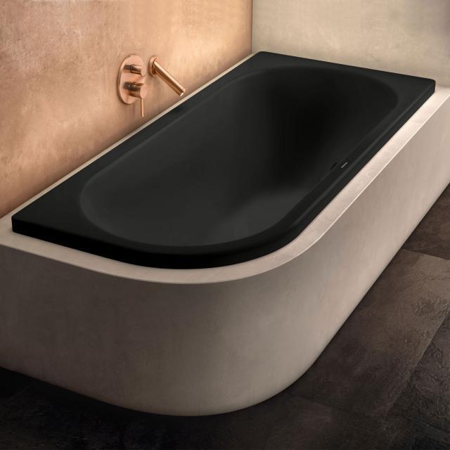 Kaldewei Centro Duo 1 Eck-Badewanne, Einbau schwarz matt