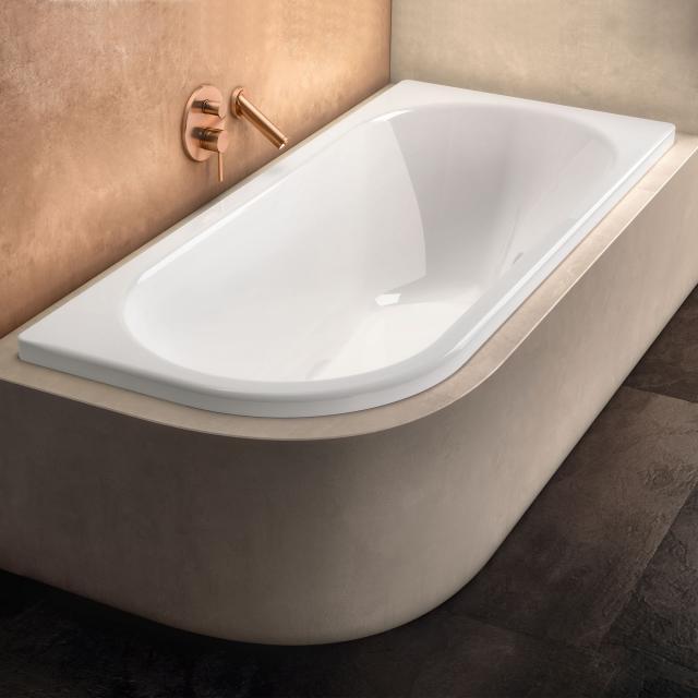 Kaldewei Centro Duo 1 Eck-Badewanne, Einbau weiß mit Perl-Effekt