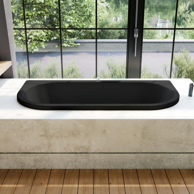 Kaldewei Centro Duo 2 Vorwand-Badewanne, Einbau schwarz matt