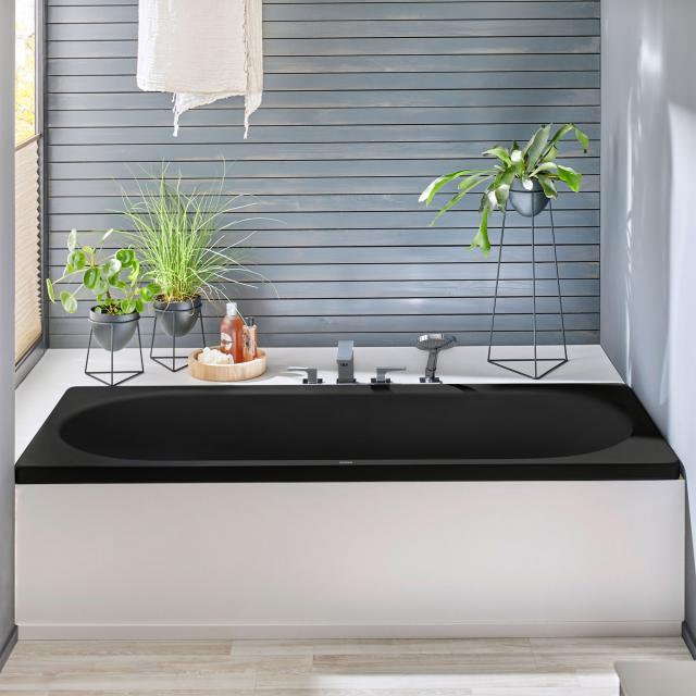 Kaldewei Centro Duo Rechteck-Badewanne, Einbau schwarz matt