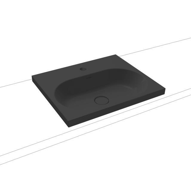 Kaldewei Centro Einbauwaschtisch schwarz matt, mit 1 Hahnloch