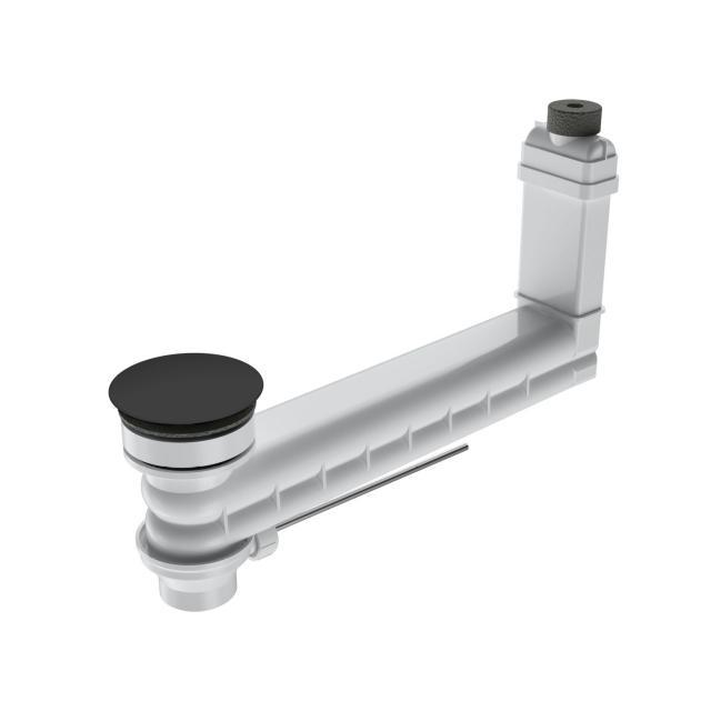 Kaldewei Clou Ab- und Überlaufgarnitur für Excenterbetätigung, rund schwarz matt