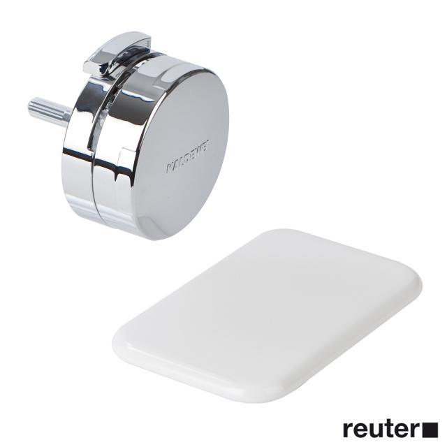 Kaldewei Comfort-Level Plus Ab- und Überlaufgarnitur mit Füllfunktion für Asymmetric Duo weiß/chrom