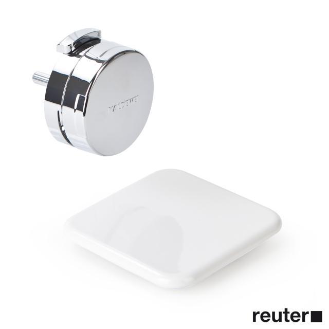 Kaldewei Comfort-Level Plus Ab- und Überlaufgarnitur mit Füllfunktion für Conoduo & Incava weiß/chrom