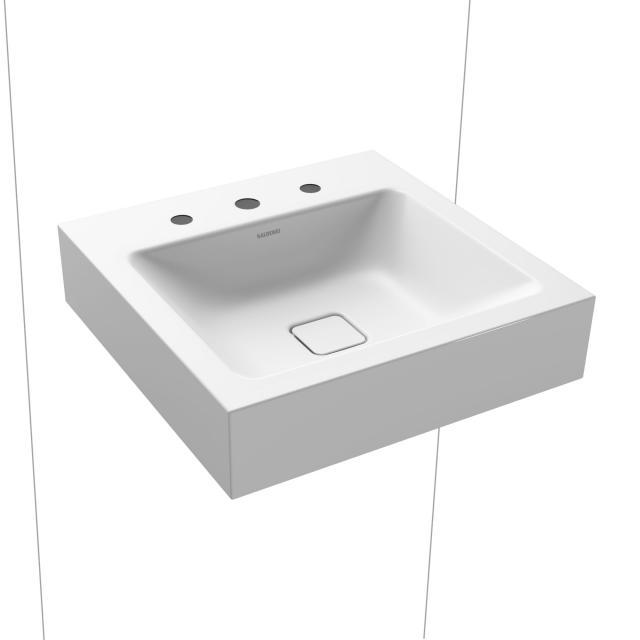 Kaldewei Cono Handwaschbecken weiß matt, mit 3 Hahnlöchern