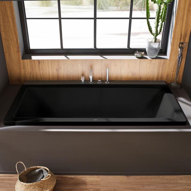 Kaldewei Conoduo Rechteck-Badewanne, Einbau schwarz matt