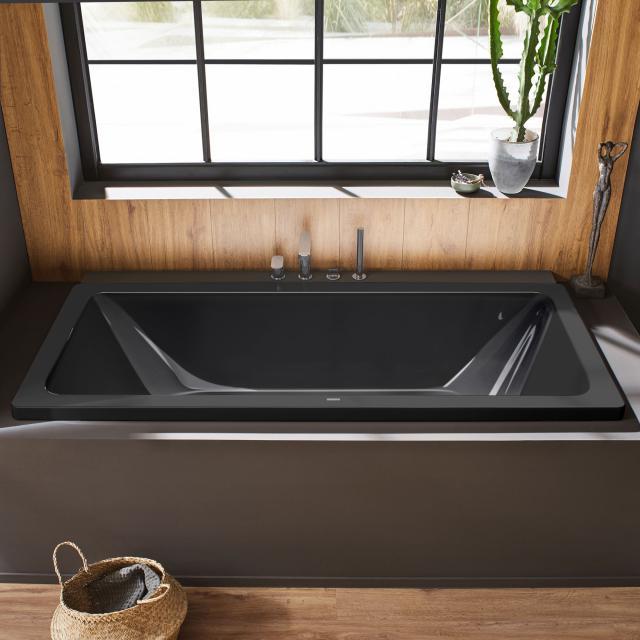Kaldewei Conoduo Rechteck-Badewanne, Einbau Vollantislip, schwarz