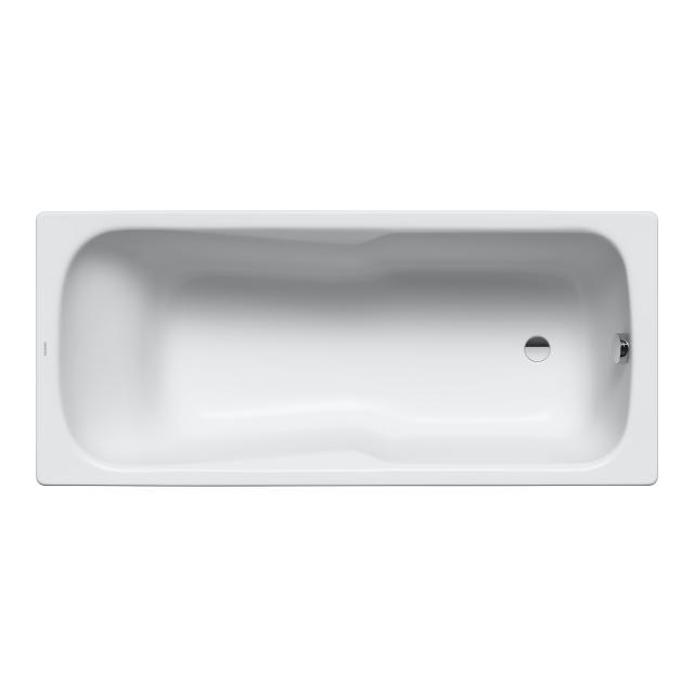 Kaldewei Dyna Set & Dyna Set Star Rechteck-Badewanne mit Duschzone, Einbau weiß mit Perl-Effekt