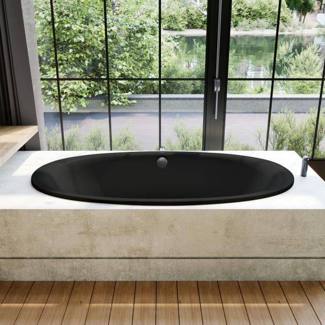 Kaldewei Ellipso Duo Oval-Badewanne, Einbau schwarz matt