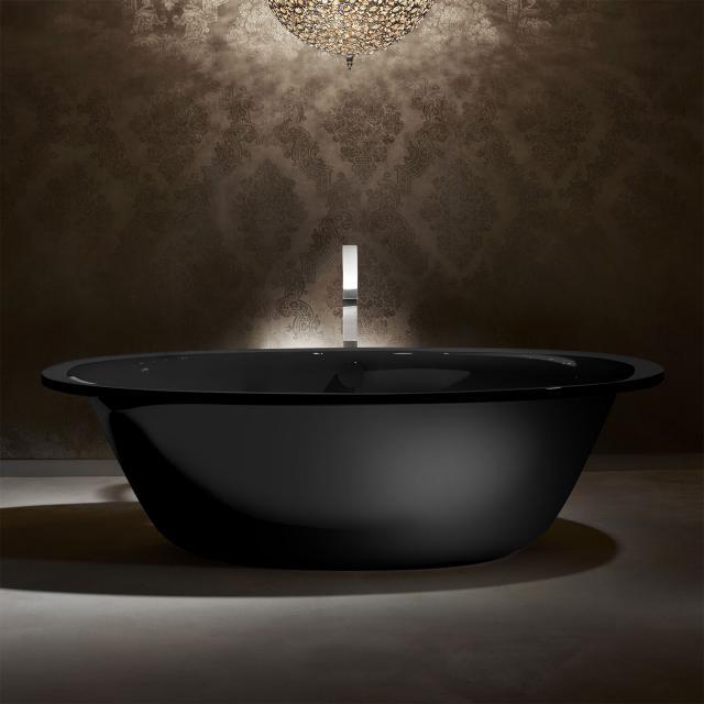 Kaldewei Ellipso Duo Oval Freistehende Oval-Badewanne schwarz, Schürze schwarz