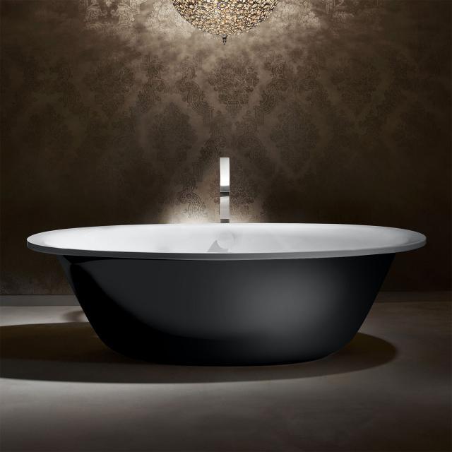 Kaldewei Ellipso Duo Oval Freistehende Oval-Badewanne weiß matt, Schürze schwarz