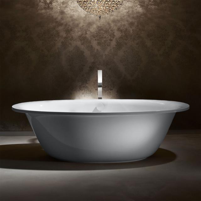 Kaldewei Ellipso Duo Oval Freistehende Oval-Badewanne weiß mit Perl-Effekt, Schürze weiß