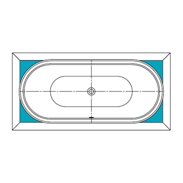Kaldewei Füllstücke für ovale Whirlwanne Mod 184 Mega Duo Oval