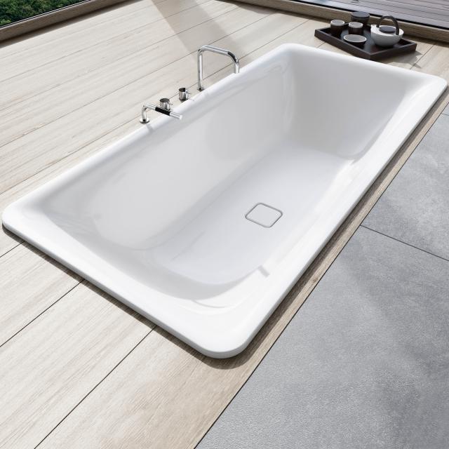 Kaldewei Incava Rechteck-Badewanne, Einbau weiß