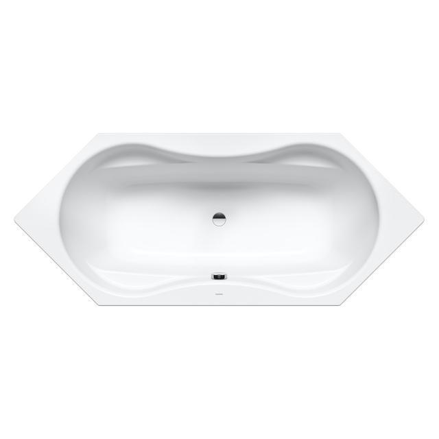 Kaldewei Mega Duo 6 Sechseck-Badewanne, Einbau weiß matt