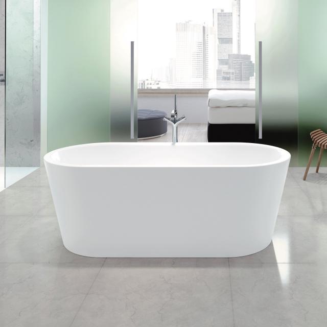 Kaldewei Meisterstück Classic Duo Oval Freistehende Oval-Badewanne weiß mit Perl-Effekt, ohne Ablaufgarnitur