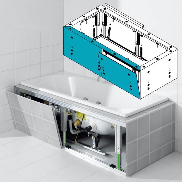 Kaldewei Multiverso Verkleidungssystem für rechteckige Whirlwannen, Längsteil 1600 mm