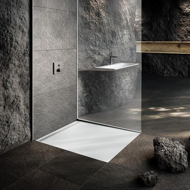 Kaldewei Nexsys Bodenebene Duschfläche Komplett-Set weiß, mit ultraflachem Ablauf