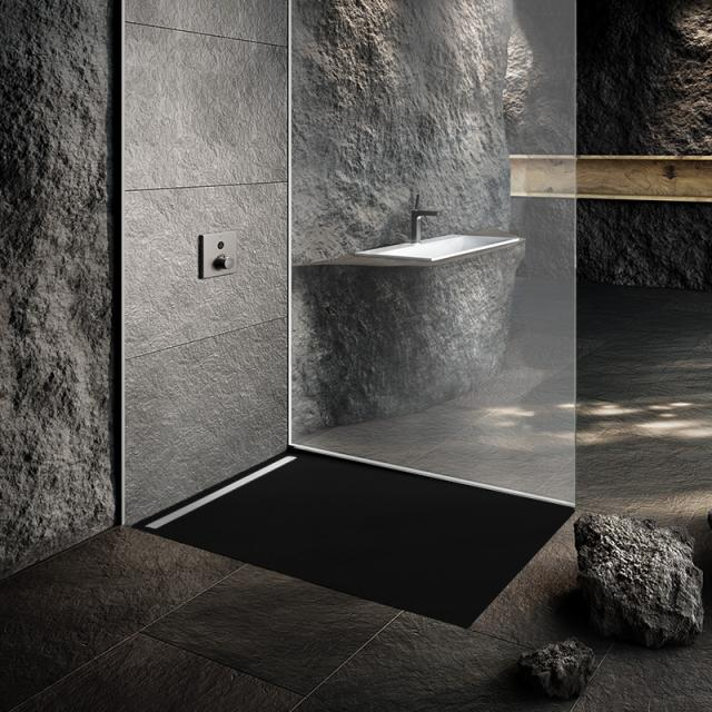 Kaldewei Nexsys Bodenebene Duschfläche Komplett-Set cool grey 90, mit normalem Ablauf