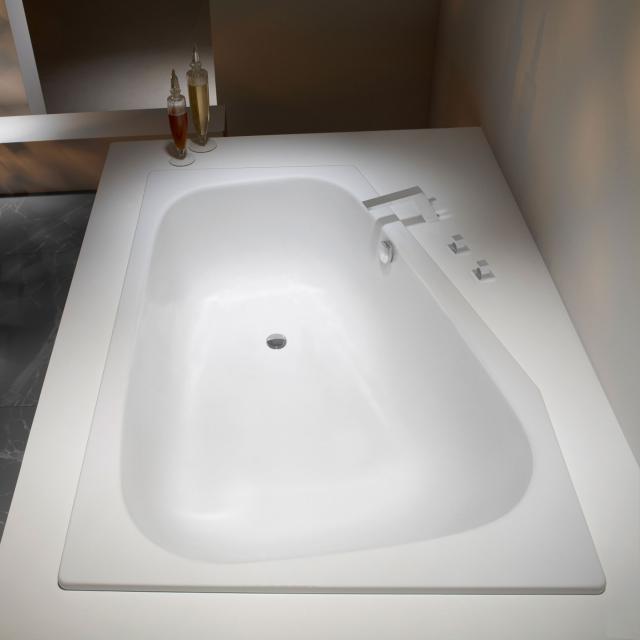 Kaldewei Plaza Duo Eck-Badewanne, Einbau weiß matt