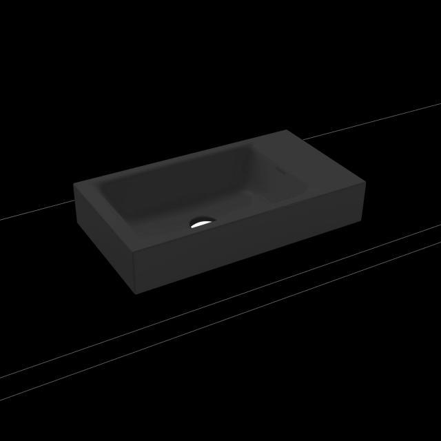 Kaldewei Puro Aufsatz-Handwaschbecken cool grey 90, ohne Hahnloch