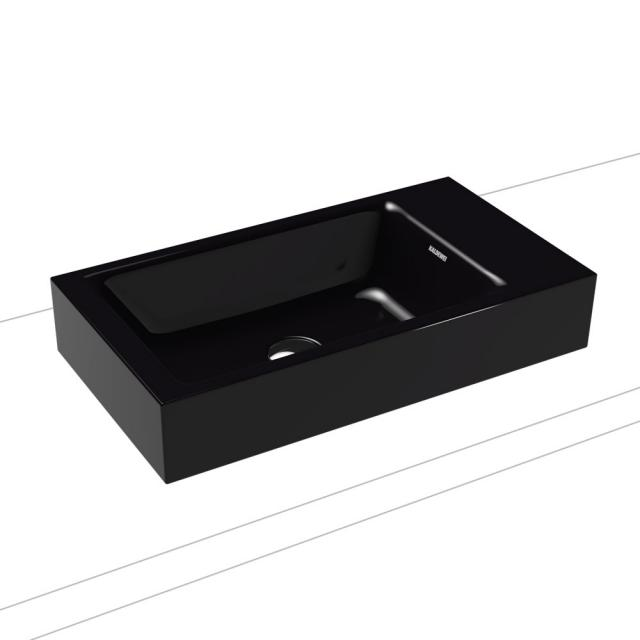 Kaldewei Puro Aufsatz-Handwaschbecken schwarz, ohne Hahnloch