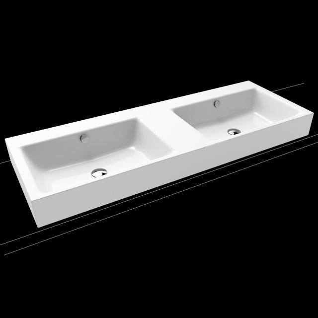 Kaldewei Puro Doppel-Aufsatzwaschtisch weiß, ohne Hahnloch