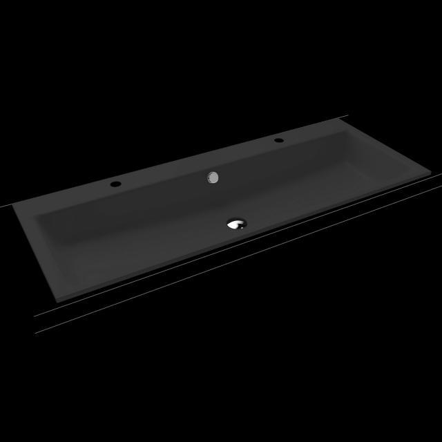 Kaldewei Puro Doppel-Einbauwaschtisch cool grey 90, mit 2 Hahnlöchern