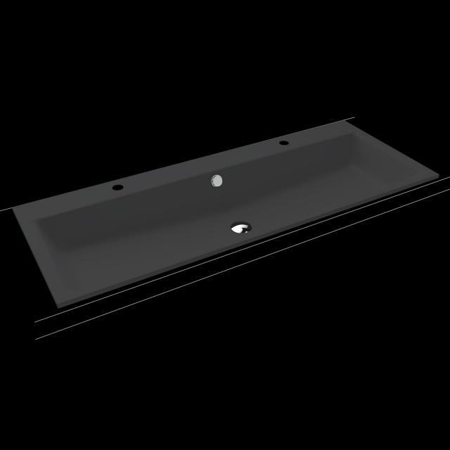 Kaldewei Puro Doppel-Einbauwaschtisch schwarz matt, mit 2 Hahnlöchern