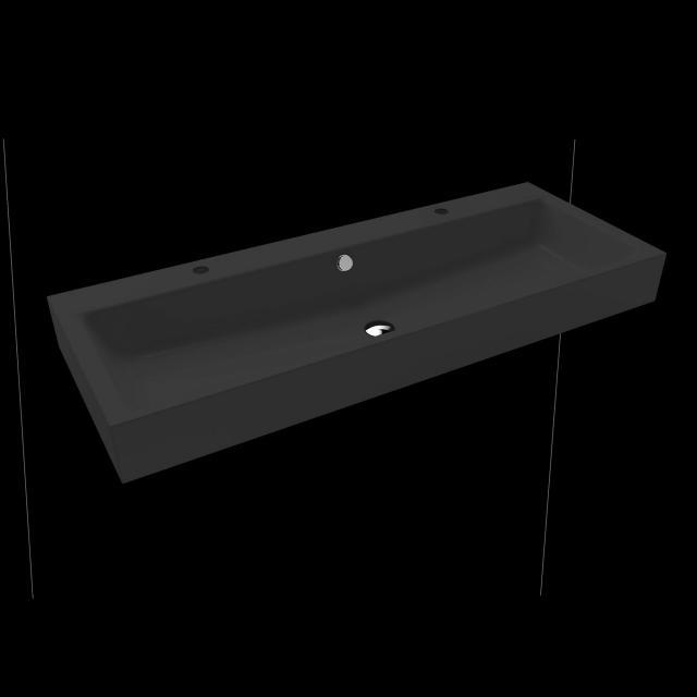 Kaldewei Puro Doppelwaschtisch cool grey 90, mit 2 Hahnlöchern